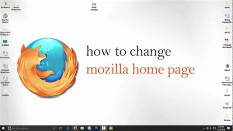 how to change home page in mozilla firefox change
