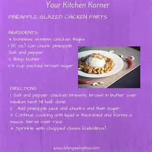 Kitchen Unit Ideas receta de pollo con pi 241 a ingl 233 s english recipe receta