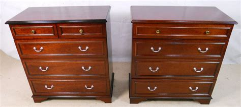 sold pair stag chest of drawers with fitted secretaire