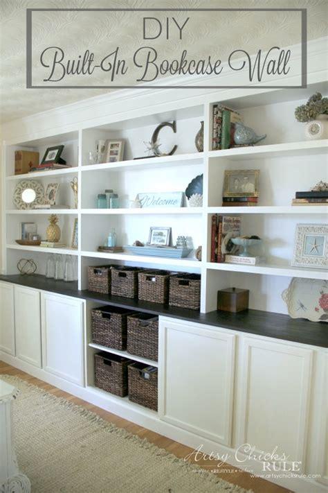 custom bookshelves diy diy built in bookcase reveal artsy rule 174