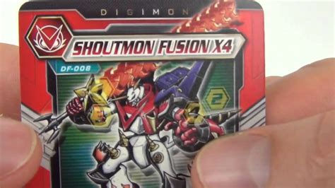 Bandai Digimon Fusion Shoutmon X4 digimon fusion shoutmon x4 single figure digi card pack