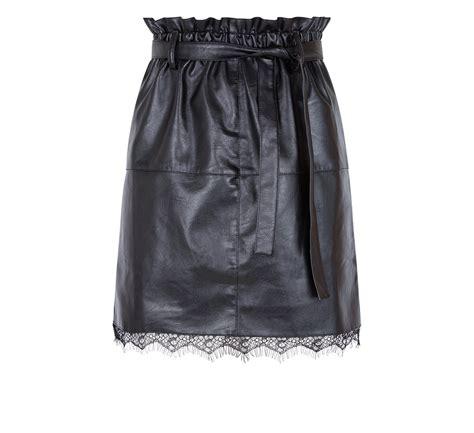 faldas cuero faldas de cuero de primavera 2018 para mujeres con mucha
