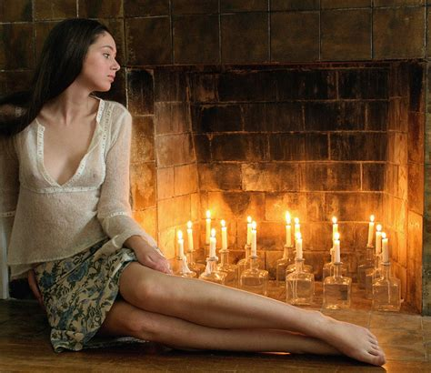 By The Fireplace by Beautiful By Fireplace Photograph By Bijan Studio