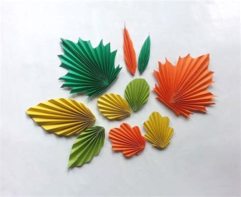 Paper Leaf Craft - diy paper leaves pattern trick pictures of patterns