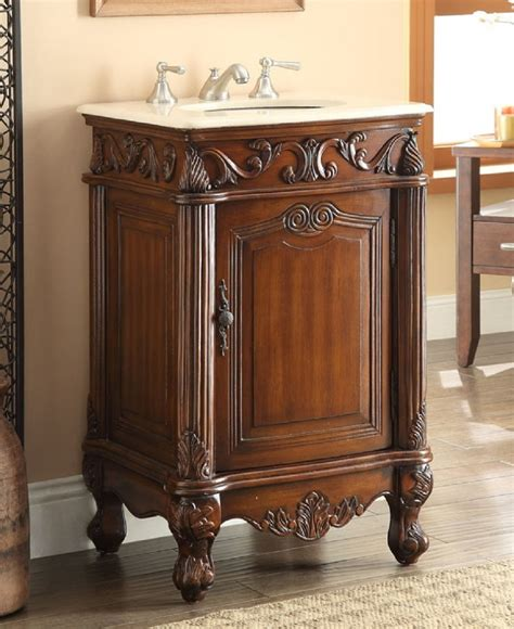 21 Bathroom Vanity 21 Inch Bathroom Vanity Traditional Style Medium Brown Color 21wx21dx34h Ccf2801mtk