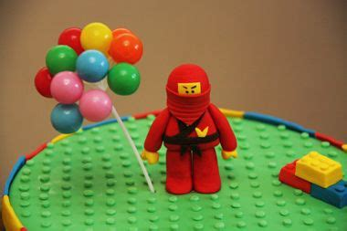 tutorial lego man ninjago cake topper she said it s easy to make and it