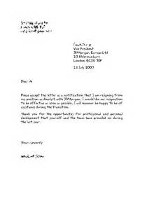 Letter Of Resignation Sle Uk by 25 Best Ideas About Sle Of Resignation Letter On Sle Of Letter