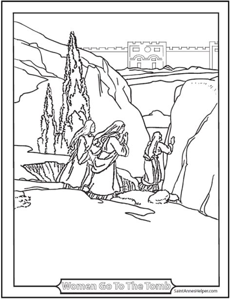resurrection coloring pages printable easter coloring pages jesus resurrection
