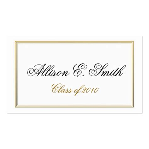 graduation name card template bordered graduation name card business card