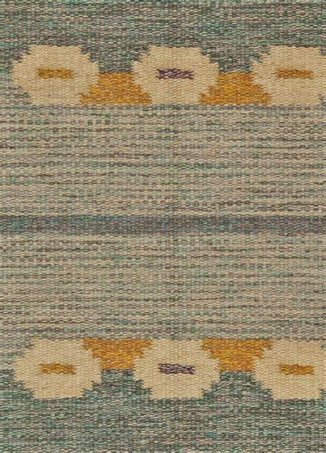 Weaved Rugs by Swedish Flat Weave Rug Signed By Ingegerd Silow At 1stdibs