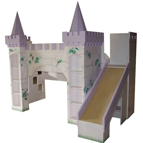 Castle Bunk Bed With Slide Enchanted Designs Mermaid Princess Castle Bunkbed With Slide