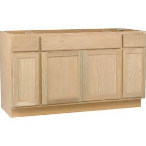 unfinished kitchen base cabinets assembled 60x34 5x24 in sink base kitchen cabinet in