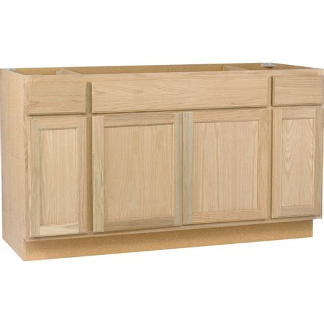 home depot kitchen cabinets unfinished assembled 60x34 5x24 in sink base kitchen cabinet in