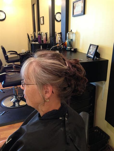 short hair stylist in md short hair updo for mother of the bride lori thompson
