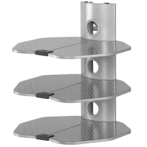 Wall Mount Electronics Shelf by Cheetah Mounts As3s 3 Tier Electronic Component Shelf Wall Mount Bracket With Cable Management