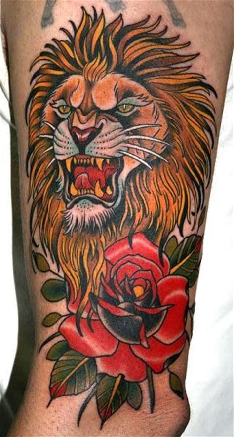 Tattoo Old School Lion | old school lion tattoo designs lion tattoo drawings