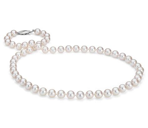 classic akoya cultured pearl strand necklace in 18k white