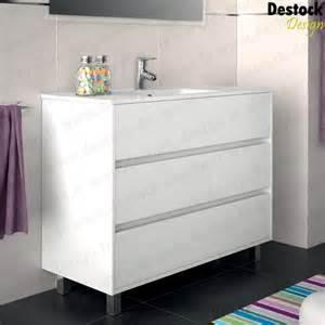 meuble salle de bain arens blanc 100 cm