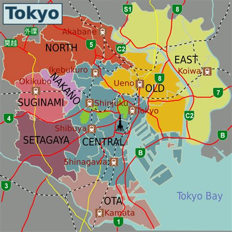 Tokyo World Map by Tokyo Map