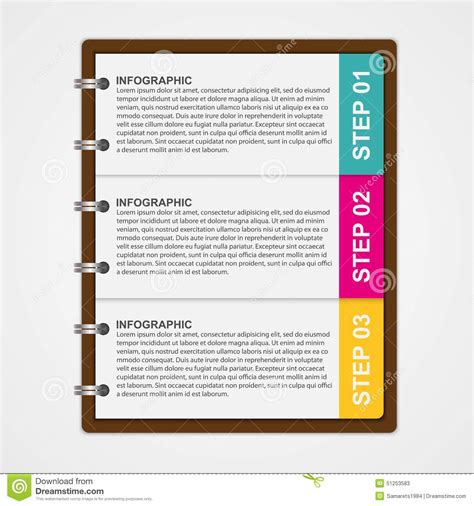 notebook design template modern design template infographic of notebook paper