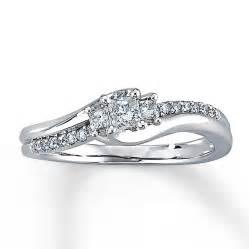 white gold wedding rings engagement ring 1 3 ct tw princess cut 10k white gold