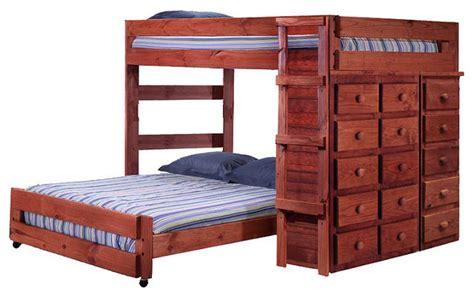extra long full bed henderson extra long full over full storage loft bed