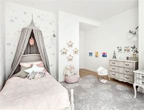 Pink And Gray Bedroom - girls bedroom in light pink gray and white decoist