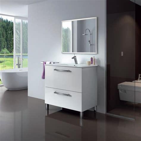 Ensemble Meuble Vasque Miroir Salle De Bain by Ensemble Salle De Bain Simple Vasque L 80 Cm Avec
