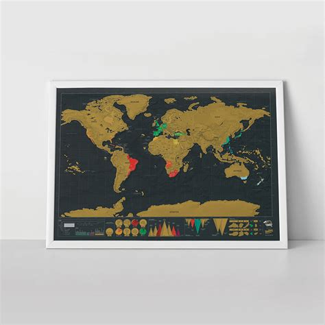 little house shop deluxe edition world scratch map by the little house shop notonthehighstreet com