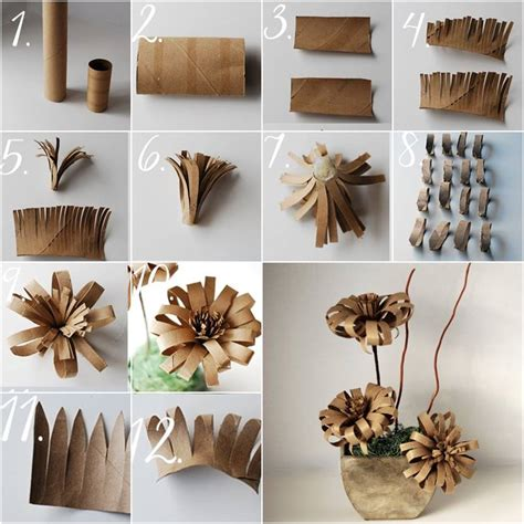 Make Toilet Paper Flowers - diy toilet paper roll 3d flower wall