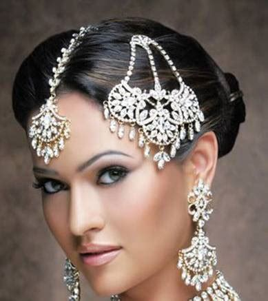indian bridal hairstyles accessories bella airbrush makeup hair design indian bridal hair