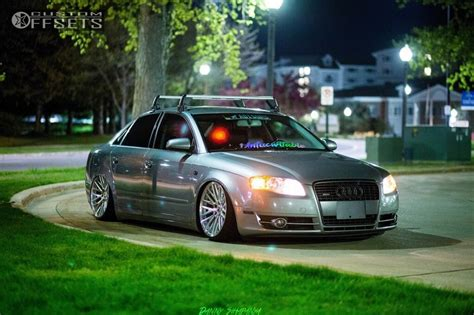 2006 Audi A4 Wheels by Wheel Offset 2006 Audi A4 Quattro Tucked Bagged