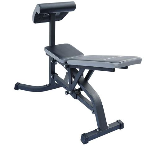 weight bench with preacher curl soozier exercise weight bench w preacher curl