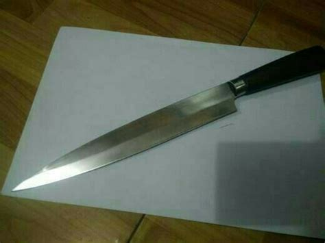 Jual Pisau Dapur Baja Handmade jual pisau dapur handmade di lapak putra kemilau destroit