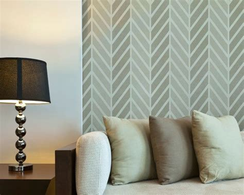 zigzag wallpaper for walls zig zag wall stencil large get ziggy stencil to paint