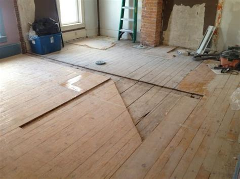 Century home pine wood flooring: Patch or replace