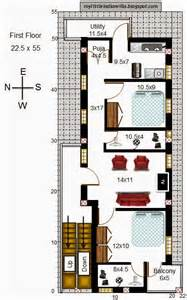 Vastu Floor Plans South Facing my little indian villa 45 r38 1bhk and 2bhk in 22x55