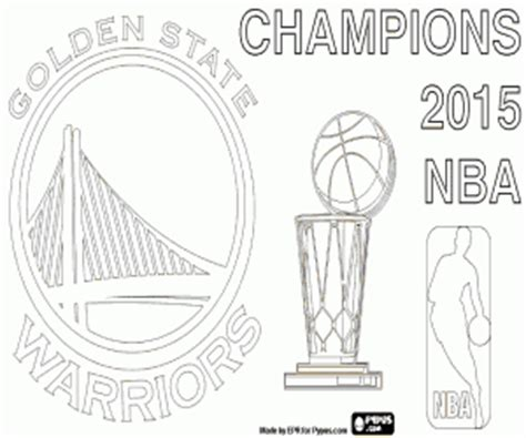 nba finals coloring pages goldenstatewarriors chion nba2015 coloring page