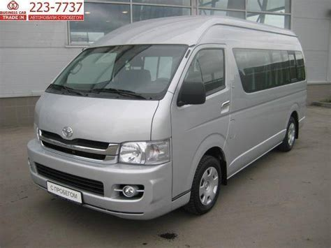 Toyota Hiace 2007 2007 Toyota Hiace Pictures 2 7l Gasoline Fr Or Rr