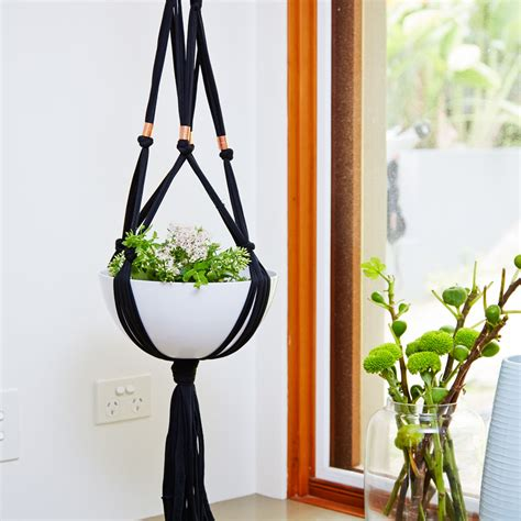 Make A Plant Hanger - how to make a macrame plant hanger better homes and gardens