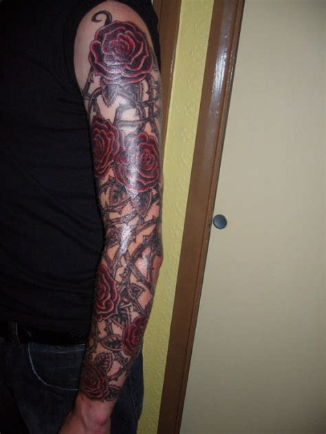 black rose arm tattoo sleeve tattoos fashion and lifestyles