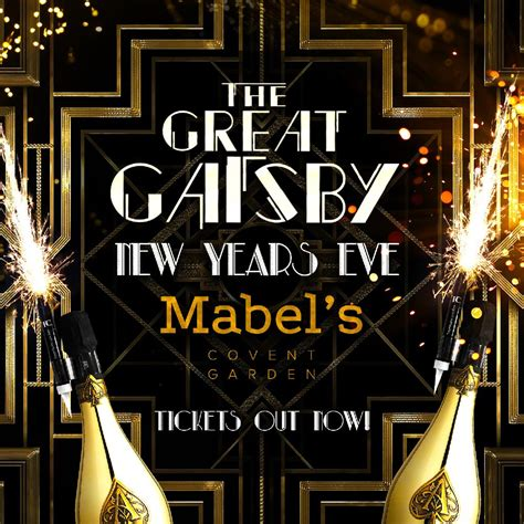 the great gatsby new years eve london tickets mabels