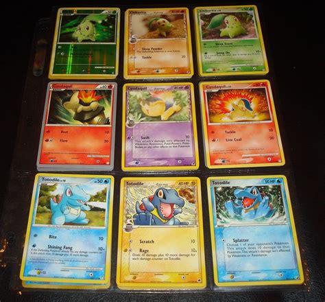 cards ebay card tarjeta 3 chikorita 3 cyndaquil 3 totodile