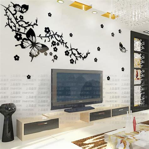 Stiker Hiasan Dinding Butterfly 3d 1 Set 12 Pcs buy large wallpaper marble flower vine mural wall paper