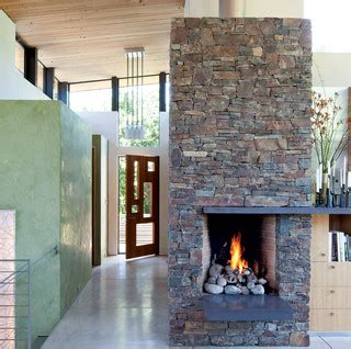 rustic  modern fireplace eclectic entry san