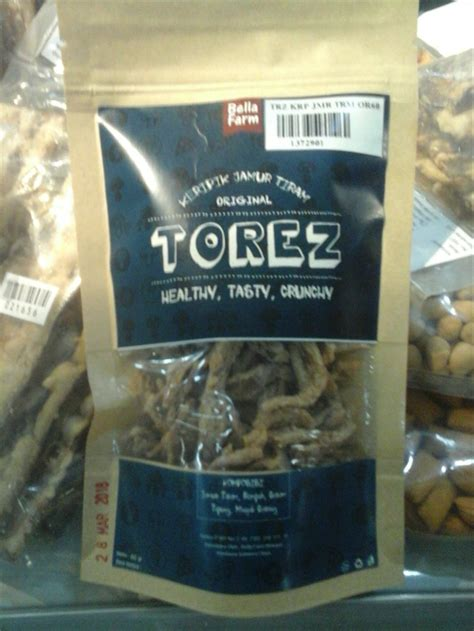 jual keripik jamur tiram khas manado merk torez  gram