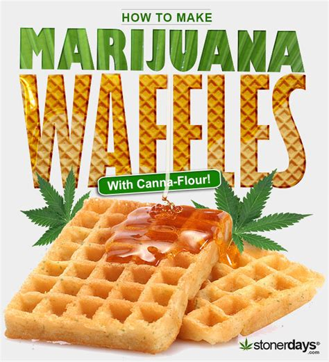 stoner cookbook how to make waffles with marijuana