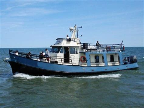 house boat for sale ontario steel charter boat trawler yacht steel charter boat