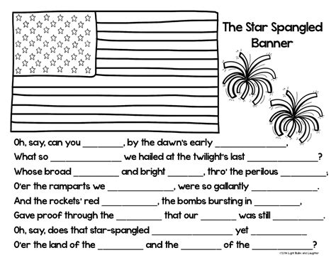 Coloring Page Of The Star Spangled Banner | classroom freebies too the star spangled banner s 200th
