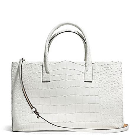 Tas Coach Original Coach Kelsey Small Studded Border Black M coach f30513 bleecker croc embossed studio tote silver white coach handbags